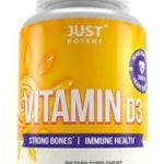 Vitamin D3 Supplement by Just Potent for Strong Immune & Nervous System, Brain Functions and Muscles
