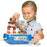Pediatric LEGO Nebulizer Machine Compresor with Building Blocks Kid-friendly Nebulizer Compressor