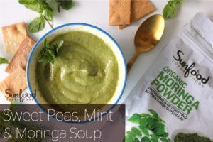 Sweet Peas, Mint & Moringa Soup