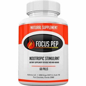 Addrena Focus Pep OTC Stimulants Brain Boosting Dietary Supplement